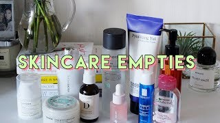 Skincare Empties • Hits and Misses
