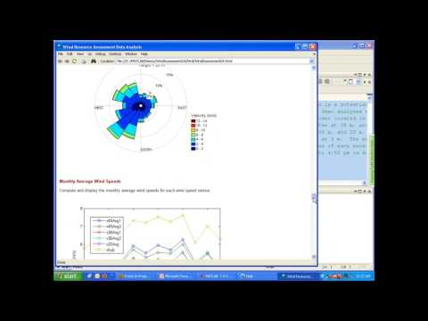 Wind Resource Assessment Data Analysis Using MATLAB