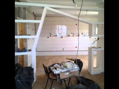D coration on plaque de pl tre b a 13 youtube - Plaque de decoration ...