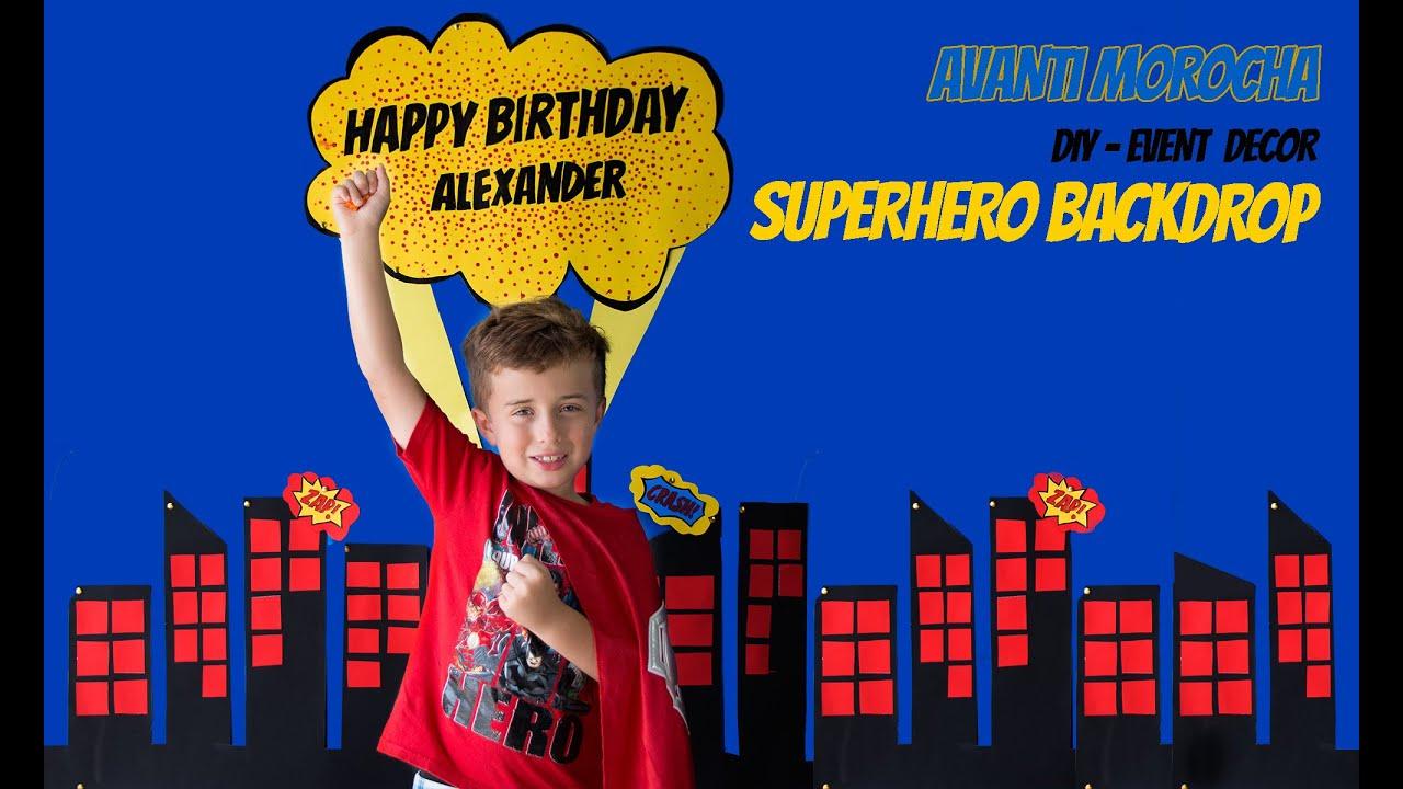 Assez DIY Superhero Backdrop / Mural de Superheroes Event decor - YouTube CH28