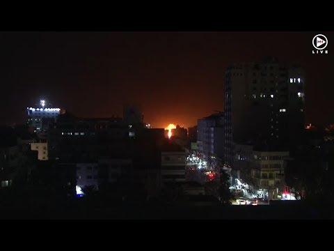 Israeli military strikes at Hamas in Gaza