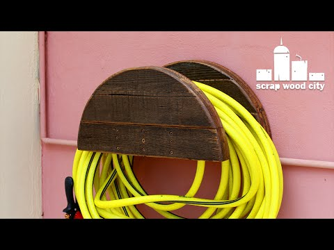 DIY garden hose hanger out of pallet wood YouTube