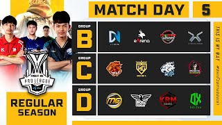 Free Fire Pro League Season 4 : Regular Season Day 5
