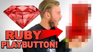 Repeat youtube video THE RUBY PLAYBUTTON / YouTube 50 Mil Sub Reward Unbox