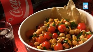 How To Make Corn And Chick Peas Salad By Kriti