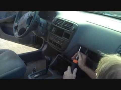 honda civic car stereo removal youtube. Black Bedroom Furniture Sets. Home Design Ideas