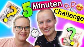 DIY Ideen mit Dingen, die man zuhause hat | 5 Minuten Bastelchallenge mit Eva & Kathi