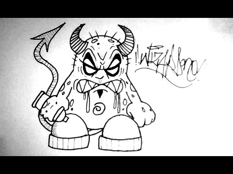 How To Draw A Monster Devil Cartoon Tutorial Easy Youtube