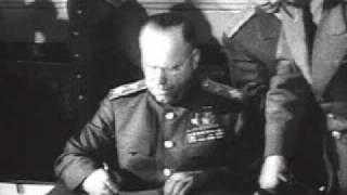 Подписание акта о безоговорочной капитуляции Германии / German Instrument of Surrender