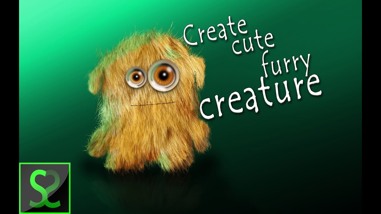 How to create cute furry creature in photoshop   photoshop.
