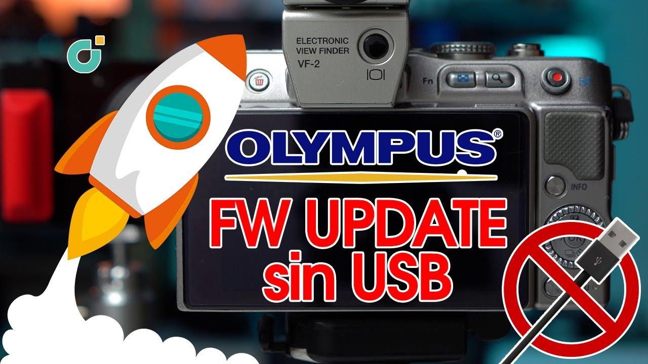 Actualizar el firmware de cámaras Olympus sin el cable USB