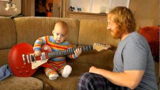 WOW this baby plays the guitar! So AMAZING!