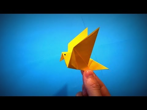 How to Make a Paper Fluttering Bird That Flies DIY - Easy Origami Step by Step