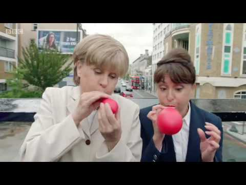 Tracey Ullman as Angela Merkel  99 Red Balloons 1080p