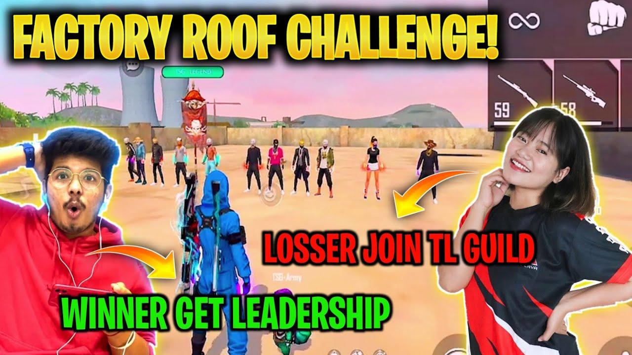 Challenge On Factory Roof With Sooneta || Twosidegamers Guild Vs Team Lava Guild - Garena Freefire