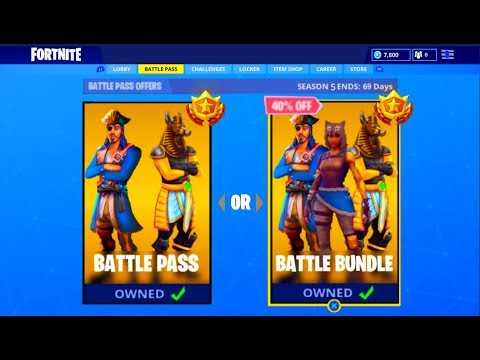 New Fortnite Season 5 Battle Pass Free Unlocked Season 5