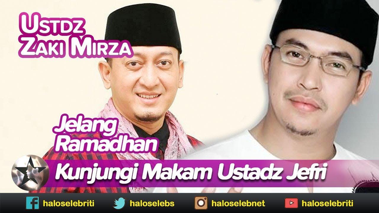 Jelang Ramadhan, Zaki Mirza Kunjungi Makam Ustadz Jefri