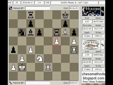 Chess Engine Game 33 Stockfish 9 vs Houdini 6 c45 Top Chess Engine season  11 Superfinal new