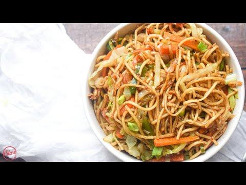 Chilli Garlic Noodles | Spicy Veg Noodles | चिली गार्लिक हक्का नूडल्स