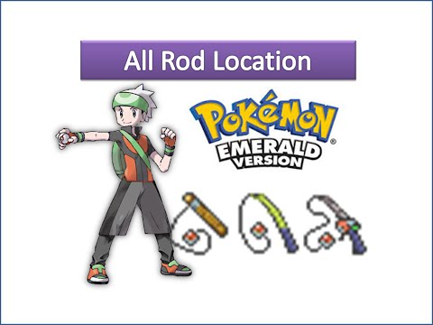 Pokemon Emerald - All Rod Locations