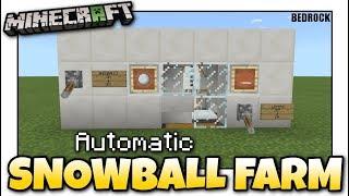Minecraft - AUTOMATIC SNOWBALL FARM [ Redstone Tutorial ] MCPE / Xbox / Bedrock