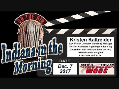 Indiana in the Morning Interview: Kristen Kaltreider (12-7-17)