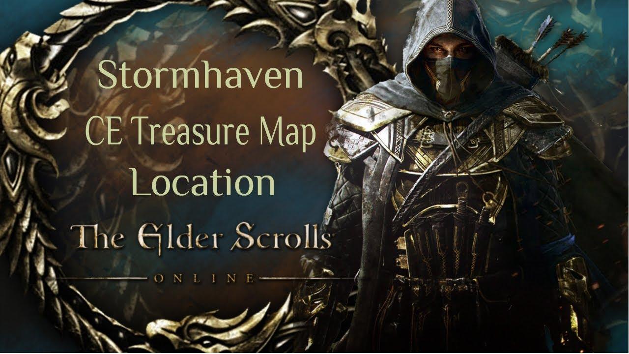 Elder Scrolls Online: Stormhaven CE Treasure Map Location - YouTube