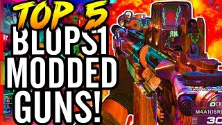 Top 5 Black Ops Modded Weapons/Guns in Zombies!  ~ CoD Black Ops Five Zombies Gameplay!