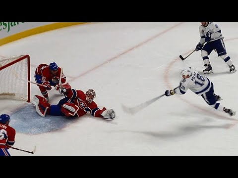 Carey Price makes Dominik Hasek style save in overtime