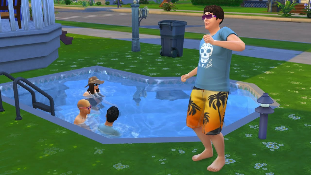 The sims 4 pool party 20 youtube for Pool design sims 4