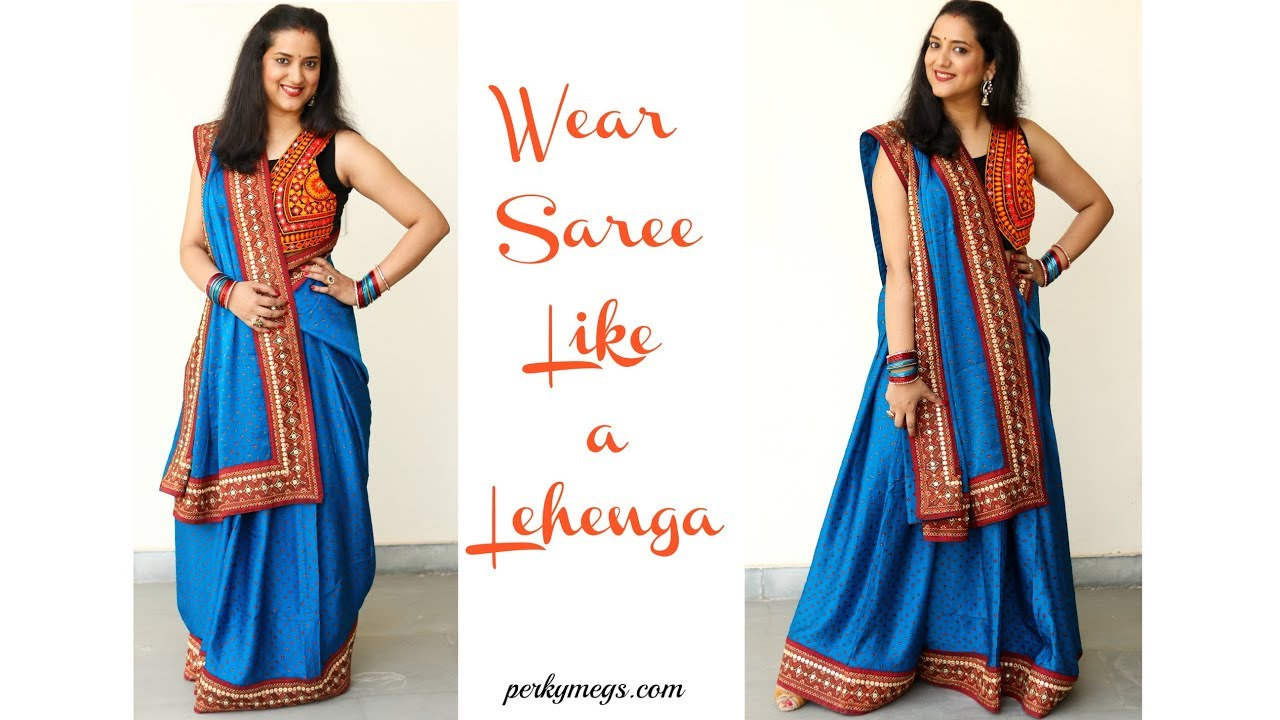 2019 year for lady- How to seedha wear pallu saree