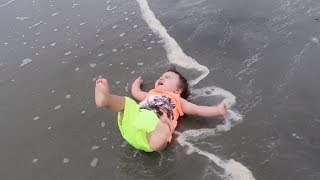Ocean Attacks Baby! | Twins 1st Vacation | Myrtle Beach 2017 Day 1