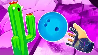 I KILLED MY CACTUS FRIEND with a BOWLING BALL in Spare Teeth VR!