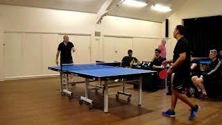 Wandsworth Table Tennis John Llewellyn vs Paul Couper