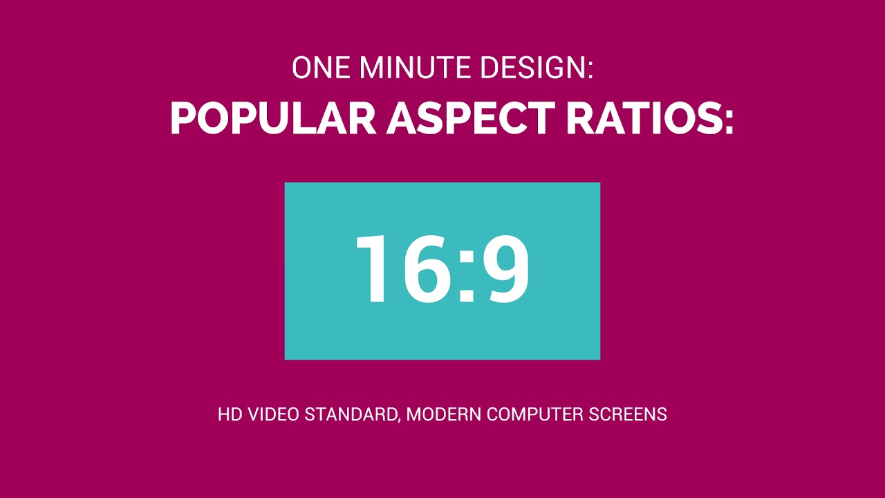 One Minute Design: What is Aspect Ratio? - YouTube