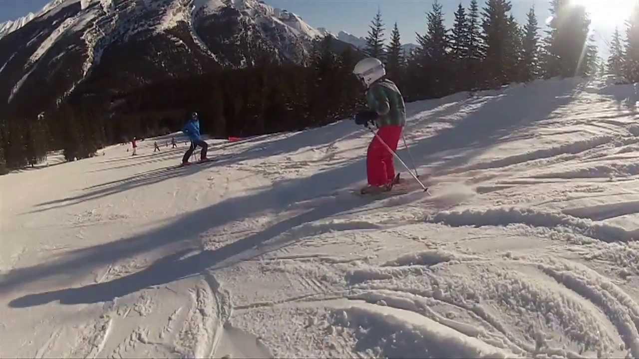 ski big 3 skiing in banff national park alberta canada youtube