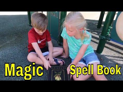 We found a MAGIC SPELL BOOK!  