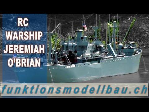 RC BOAT BIG BATTLE WARSHIP JEREMIAH O'BRIAN - SCALE RC WAR SHIP