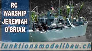 RC BOAT BIG BATTLE WARSHIP JEREMIAH O'BRIAN - SCALE RC WAR SHIP