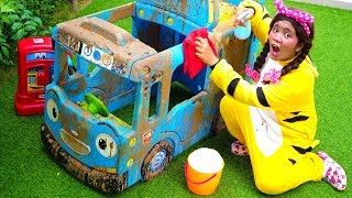 Car Wash Song Nursery Rhymes with Tayo The Little Bus