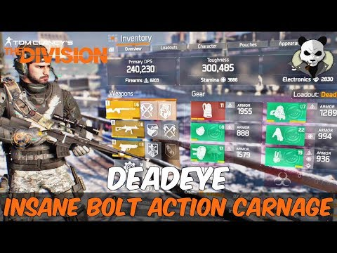 The Division 1.6.1 - The ULTIMATE DEADEYE BUILD - SURVIVE ANYTHING - 2 SHOTTING Ft. M700 Tactical