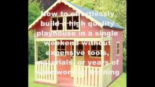 How To Build A Playhouse Step By Step | Diy Playhouse