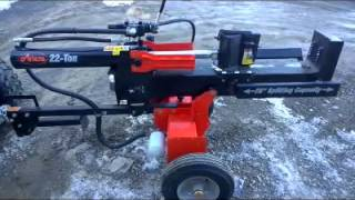 Ariens 22 ton log splitter with 4 way wedge