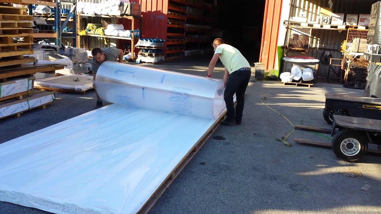 comment rouler une plaque de polycarbonate youtube. Black Bedroom Furniture Sets. Home Design Ideas