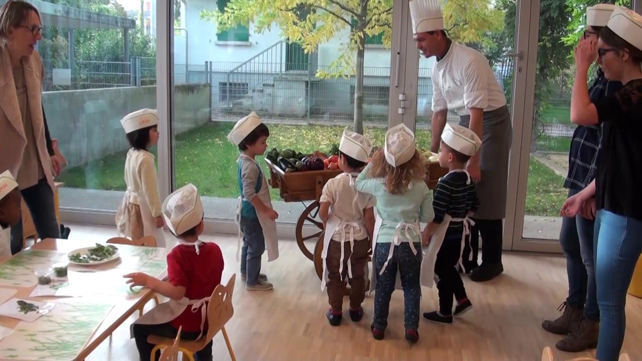 Atelier Ratatouille à la crèche EVE Marcelly (GE)