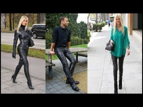 Extremely Tight Low And High Rise Leather Pants