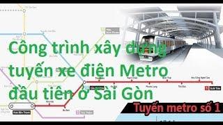 Công trình xây dựng tuyến xe điện Metro đầu tiên ở Sài Gòn