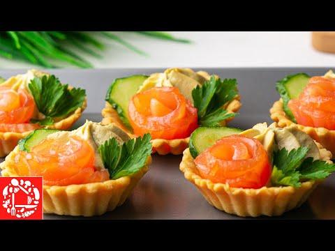 Видео: Закуска Тарталетки с начинкой на Праздничный стол