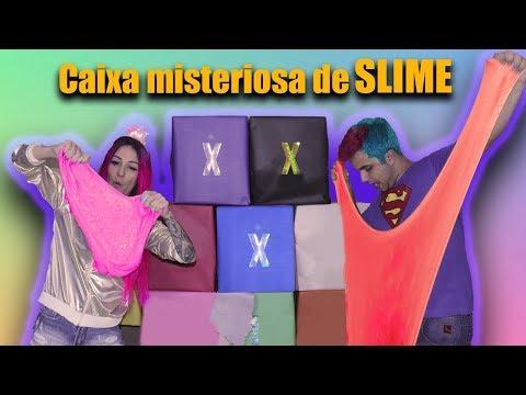 DESAFIO DA CAIXA MISTERIOSA DE SLIME (MYSTERY BOX SLIME CHALLENGE)