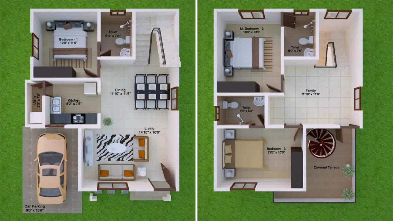 30x50 duplex house plans west facing youtube